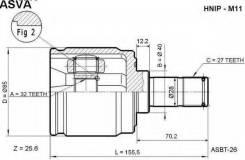 ШРУС подвески внутренний правый Asva Hnipm11