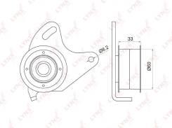 Ролик натяжной ремня ГРМ LYNXauto PB1030