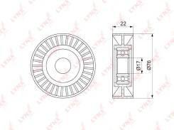 Ролик натяжной приводного ремня LYNXauto PB5347