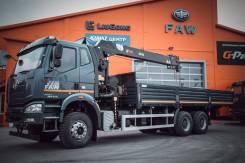 FAW J6. Продам бортовой грузовик FAW с КМУ HIAB190TM, 8 600куб. см., 19 520кг., 6x4. Под заказ