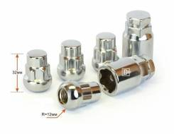 Колесные секретки Seguro LN004-2*2L (12*1,5) h=35mm (4шт, 2 ключа)