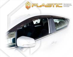 Ветровики дверей Classic полупрозрачный Jac S3 2018-н. в. (изготовление) Plastics 1434