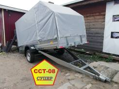 Прицеп для снегохода ССТ-08 Супер 300х150 с тентом