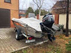 Продам лодку Wellboat-47 с мотором Suzuki DF60 и телегой (на учёте)