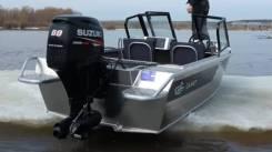 Моторная лодка Салют-430PRO JET водомёт