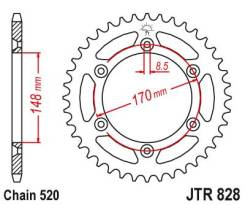 Звезда задняя Sunstar 1-3667-48 (ведомая) JTR828 под 520