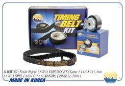Комплект ГРМ (ремень ГРМ+ролик) Daewoo Nexia Lanos Ave пр. Корея