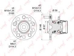 Ступица колеса | зад прав/лев | LYNXauto WH-1207