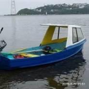 Продам лодку весельную пластиковую, транец укреплен под двигатель 15