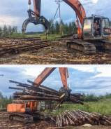 Универсальный неповоротный захват Exten FrontGrip для леса на Hitachi