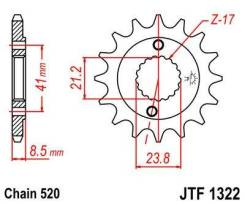 Звезда передняя JT JTF1322.15 для мотоциклов