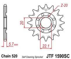 Звезда передняя JT JTF1590.14SC для мотоциклов