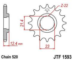 Звезда передняя JT JTF1593.14 для мотоциклов