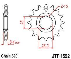 Звезда передняя JT JTF1592.13 для мотоциклов