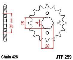 Звезда передняя JT JTF259.15 для мотоциклов