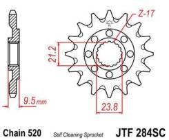 Звезда передняя JT JTF284.13SC для мотоциклов