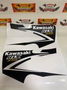 Наклейки на передний боковой пластик Kawasaki KLX250 черный