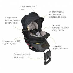 Кресло детское автомобильное Kurutto NT2 Premium, группа 0+/1, черное AILEBEBE ALB860E