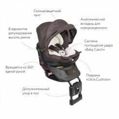 Кресло детское автомобильное Kurutto NT2 Premium, группа 0+/1, коричневое AILEBEBE ALB861E