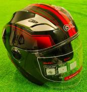Шлем открытый GXT красный, производство Тайвань, размер M