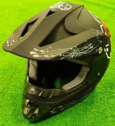 Мотошлем кросс/эндуро, черный, размер M, L