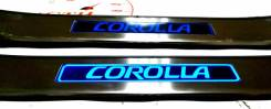 Накладка на порог. Toyota Corolla Fielder, NKE165G, NRE161G, NZE161G, NZE164G, ZRE162G Toyota Corolla 1NZFE, 1NZFXE, 2NRFKE, 2ZRFAE