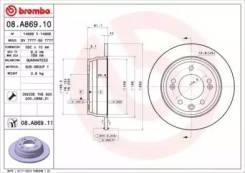 Диск тормозной Standard Brembo [08A86910], задний
