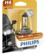 Лампа галогеновая H4 Vision +30% 12V 60/55W P43t-38 B1 Philips [12342PRB1]