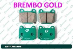 Тормозные колодки задние G-brake (Япония) GP-06068. Brembo Gold
