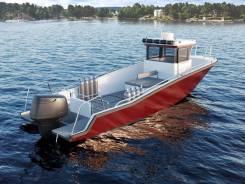 Катер Pacifico Fisher 81 для рыбалки, марикультуры, дайвинга. 2019 год, длина 8,10м., двигатель без двигателя, 300,00л.с., бензин. Под заказ