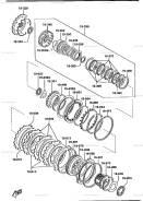 Кольцо упорное подшипника АКПП Mazda FU0119303A (19-639)