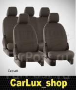 Модельные штатные чехлы из экокожи на Toyota Prius A 41 (Серые)