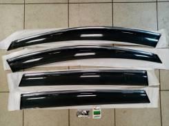 Дефлектор окон (Ветровики) с хром полосой Toyota RAV4 40 кузов 13-18