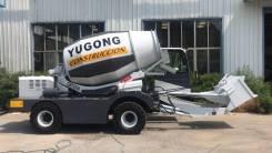 Yagong. Самовыгружащий автобетоносмеситель Yugong SDM2500 поворотная бочка. Под заказ