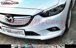 Реснички на фары для Mazda 6 2012-2018 фигурные