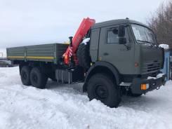 Камаз 43118 евро 2 военный, новый, бортовой с КМУ Fassi f155, 2020