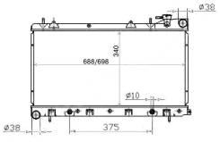 Радиатор охлаждения ДВС Subaru Forester/Impreza
