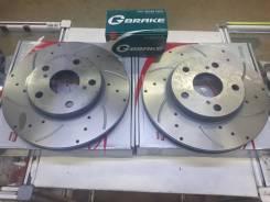 Диски тормозные префорированные + колодки перед G-brake MARK