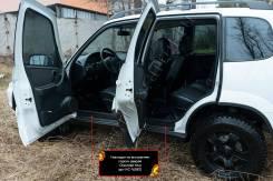 Накладки на внутренние пороги дверей Chevrolet Niva 2002-