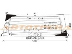 Стекло Заднее С Обогревом Toyota Rav4 #A2# 3/5d 00-05 / Chery Tiggo 05- / XYG арт. FB21155 RW/H/X