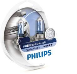 Лампа H11+W5W Crystal Vision 4300K 12V 2шт 12362CV SM 52646128 philips 12362CVSM в наличии