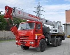 Челябинец КС-55732-28. Автокран Челябинец 25 тонн на шасси Камаз 6х6 43118, 28,00м.