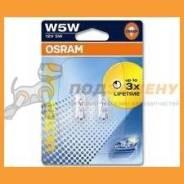 Комплект ламп W5W 12V W2,19,5D (блистер 2шт) 2825ULT02B OSRAM 2825ULT02B