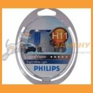 Комплект ламп 12V H11 55W Cristal Vision PGJ19-2 2x W5W 12362CVSM PHILIPS 12362CVSM