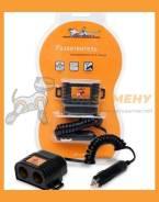 Прикуриватель-разветвитель на 2 гнезда с витым шнуром Airline / ASP205