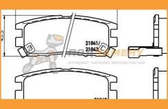Колодки тормозные дисковые зад (PF-3280) NISSHINBO / NP3002