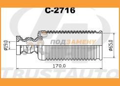 Защитный комплект амортизатора TRUSTAUTO / C2716