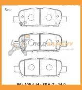 Колодки тормозные дисковые ADVICS / SN505P