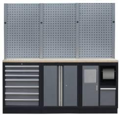 Комплект металлической мебели для мастерской и гаража Mebox COM 13