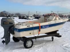 Yamaha Fish 15. 1995 год, длина 4,50м., двигатель подвесной, 55,00л.с., бензин